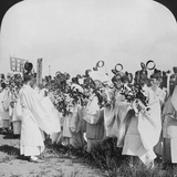Shinto Priests in a Funeral Procession for 'Hitachi Maru' Victims, Tokyo, Japan, 1905 Photographic Print by HC White