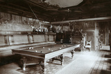 The Billiard Room, Imperial Palace, Bialowieza Forest, Russia, Late 19th Century Photographic Print by  Mechkovsky