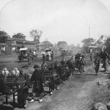 Chinese Funeral Procession, Bearing Food for the Departed Spirit, Peking (Beijin), China, 1901 Photographic Print by HC White