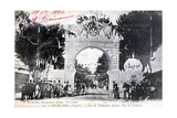 Arc De Triomphe Facade, Sidi Bel Abbes, Algeria, 14 July 1906 Giclee Print by  Boumendil