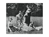 Royal Family as a Happy Group of Dog Lovers, 1937 Giclee Print by Michael Chance