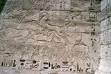 Relief Carvings, Medinet Habu, Luxor, Egypt, 20th Century Photographic Print by Jacques Marthelot