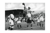 Peru's Olympic Football Team in Action, Berlin Olympics, 1936 Giclee-trykk
