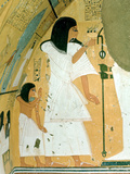 Ancient Egyptian Mural, Deir El Medina, Thebes, Egypt Photographic Print by Jacques Marthelot