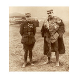 Lieutenant Georges Guynemer and Captain Felix Brocard, French Fighter Pilots, 5 February 1916 Giclee Print