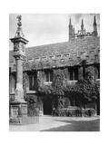 Sundial, Corpus Christi College, Oxford, Oxfordshire, 1924-1926 Giclee Print by Herbert Felton