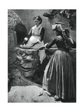 Women at the Oven, Sardinia, Italy, 1937 Giclee Print by Martin Hurlimann