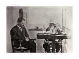 Leo Tolstoy and Anton Chekhov, Russian Authors, 1902 Giclee Print by Sophia Tolstaya