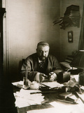 Alexander Kuprin, Russian Author, at His Desk, Gatchina, Russia, Early 20th Century Photographic Print by Karl Karlovich Bulla