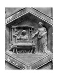 The Art of Weaving, Relief on the Duomo, Florence, Italy, Mid 14th Century Impression giclée par  Giotto