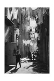 Narrow Street in Naples, Italy, 1937 Giclee Print by Martin Hurlimann