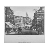 Holborn Hill and Skinner Street before Holborn Viaduct Was Built, City of London, 1864 Giclee Print
