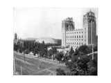New Mormon Temple, Salt Lake City, Utah, Late 19th Century Giclée-tryk af John L Stoddard