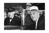 Franklin D Roosevelt and Winston Churchill Meeting in Quebec, Canada, 1944 Giclee Print