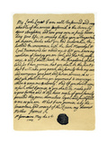 Letter from James Edward Stuart to Simon Fraser, Lord Lovat, St Germains, 3rd May 1703 Giclee Print by James Stuart