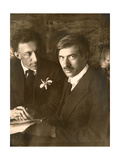 Alexander Blok and Korney Chukovsky, Russian Poets, Early 20th Century Giclee Print by Moisei Solomonovich Nappelbaum