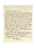 Letter from Jean Jaques Rousseau, 15th July 1764 Giclee Print by Jean-Jacques Rousseau