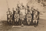 The Battalion Football Team of the First Battalion, the Queen's Own Royal West Kent Regiment Photographic Print