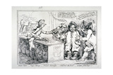 Bank-Notes, Paper Money, French Alarmists..., 1797 Giclee Print by James Gillray