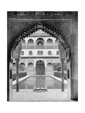 Court of the Myrtles, Alhambra, Spain, 1893 Giclee Print by John L Stoddard