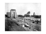 Avenue of Sphinxes, Karnak, Egypt, 1893 Giclee Print by John L Stoddard
