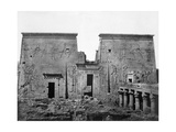 Temple of Philae, Nubia, Egypt, 1852 Giclee Print by Maxime Du Camp