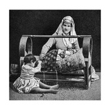 An Armenian Mother and Her Children, 1922 Giclee Print by W Llewellyn Williams