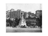 Statue of Columbus, Genoa, Italy, Late 19th Century Giclee Print by John L Stoddard