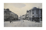 View of Arbat Street in Winter, Moscow, Russia, Early 20th Century Giclee Print