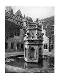 Fountain in the Cloisters of Newstead Abbey, Nottingham, 1902-1903 Giclee Print by Richard Keene
