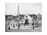 Place De La Concorde, Paris, Late 19th Century Giclee Print by John L Stoddard