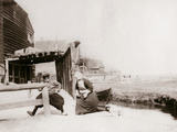 Children Playing, Marken Island, Netherlands, 1898 Photographic Print by James Batkin