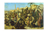 A Market in Cairo, C Late 19th Century Giclee Print by Franz Theodor Wurbel