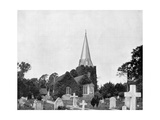 Churchyard of Stoke-Pogis, England, 1893 Giclee Print by John L Stoddard