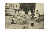 Making Jam in the Courtyard of Leo Tolstoy's House, Yasnaya Polyana, Near Tula, Russia, 1900 Giclee Print by Sophia Tolstaya