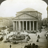 The Pantheon and the Piazza Della Rotunda, Rome, Italy Photographic Print