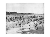 Beach at Atlantic City, New Jersey, USA, Late 19th Century Giclee Print by John L Stoddard