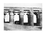 Temple Ruins, Egypt, 1852 Giclee Print by Maxime Du Camp