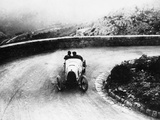 Louis Chiron Driving a Bugatti at a Hill Climb, 1923 Photographic Print