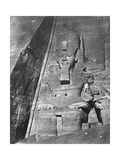 Colossal Statue, Egypt, 1852 Giclee Print by Maxime Du Camp
