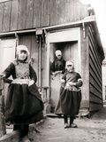 Girls in Traditional Dress, Marken Island, Netherlands, 1898 Photographic Print by James Batkin