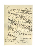 Letter from Sir Issac Newton to William Briggs, 20th June 1682 Giclee Print