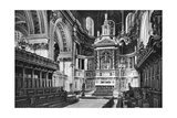 The Choir and Reredos, St Paul's Cathedral, 1908-1909 Giclee Print by WS Campbell