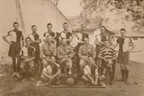 The Young Soldiers Football Team of the First Battalion Photographic Print