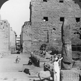 Avenue of Sacred Images after Excavation, Karnak, Thebes, Egypt, C1900 Photographic Print