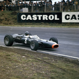 Graham Hill Racing a Brm P261, British Grand Prix, Brands Hatch, Kent, 1966 Photographic Print