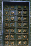 The North Doors of the Baptistry of San Giovanni, 1403-1424 Fotografisk tryk af Lorenzo Ghiberti