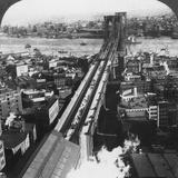 Brooklyn Bridge, New York City, New York, USA, Late 19th or Early 20th Century Photographic Print
