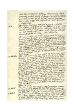 Journal of Sir Walter Raleigh, 1618 Giclee Print by Walter Raleigh