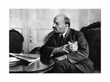 Russian Bolshevik Leader Vladimir Ilich Lenin in His Kremlin Appartment, Moscow, Russia, 1920 Giclee Print